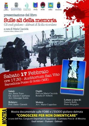 Barcellona Pozzo di Gotto: gli esuli giuliano-dalmati siciliani in un libro edito da Giambra