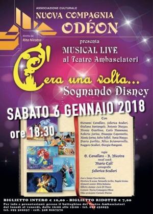 C'era  una volta....sognando Disney Teatro Ambasciatori a Catania il 6 gennaio