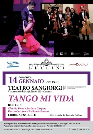 Il Tango il 14 Gennaio al TEATRO SAN GIORGI di Catania -  Una serata all'insegna dell'eccellenza