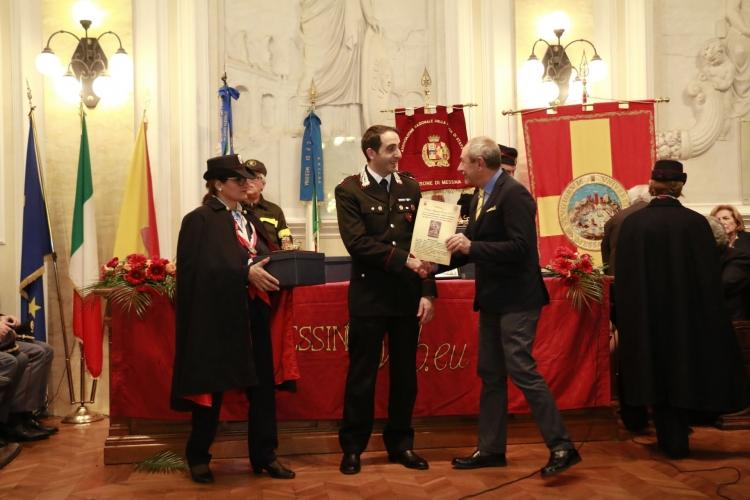 PREMIO ORIONE SPECIALE 2017 conferito alla Sezione Biologia - Reparto Carabinieri Investigazioni Scientifiche - di Messina comandata dal Magg. inv sc Carlo Giovanni Romano.