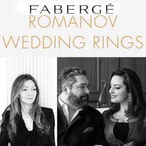 Anelli Fabergé per l'imminente matrimonio del Granduca Principe S.A.I. Giorgio Mikhilovitch di Russia con Rebecca Victoria Bettarini a San Pietroburgo