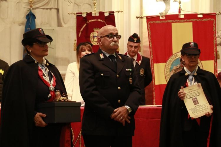 PREMIO ORIONE SPECIALE 2017 conferito alla Sezione Operativa Mobile del Corpo di Polizia  Municipale di Messina diretta dal  Commissario Ispettore Superiore Gaetano La Mazza
