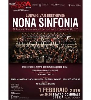 Marco Alibrandi dirige al Teatro Cilea  a Reggio Calabria  il primo Febbraio la nona di Beethoven