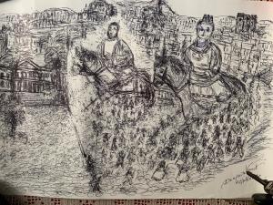 Buon Ferragosto in arte con un' opera di  Domenico Venuti