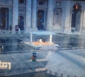 A Roma il Papa oggi 27 marzo venerdì   impartisce la benedizione plenaria