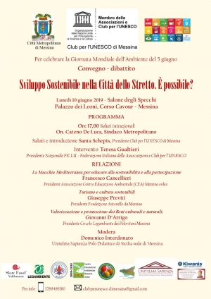 Interessante convegno CLUB per l'Unesco di Messina Con Ficlu e Ucsi