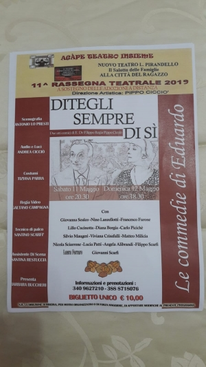 Il Teatro Pirandello una delle risorse di Messina. Da non perdere  gli spettacoli del giorno 11 e 12 maggio.
