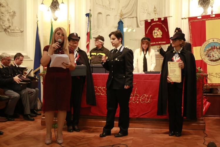 PREMIO ORIONE SPECIALE 2017 conferito al Personale  di Polizia Penitenziaria di Messina  comandata dal  Commissario Coordinatore  Antonella C. MACHI'