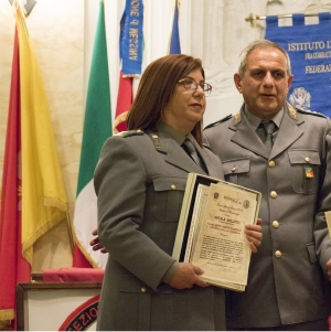 """Messina 6.12.2018 """"Premio Orione Speciale"""" conferito al Distaccamento Forestale di Francavilla di Sicilia (Me) Comandato da  Natala  Gullotti Ispettore Superiore Forestale"""