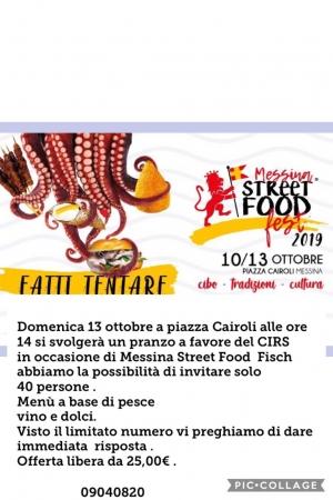 Per la casa famiglia e Centro di Formazione Cirs Messina il 13 ottobre. Pranziamo a Piazza Cairoli?