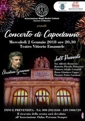 Concerto di Capodanno 2 gennaio Pro charity al Teatro  Vittorio Ore 20.30