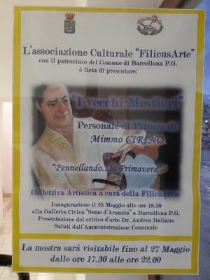 """LA """"FILICUSARTE"""" A BARCELLONA POZZO DI GOTTO Con l'evento artistico """"Pennellando… la primavera"""""""
