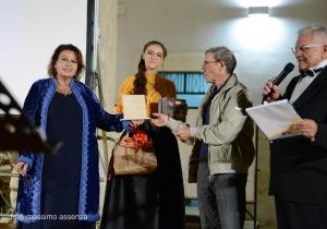Il critico  Maria Teresa Prestigiacomo All' evento  Gala dei 18 anni di Ev' Vivva la mamma di Giorgio Fratantonio.
