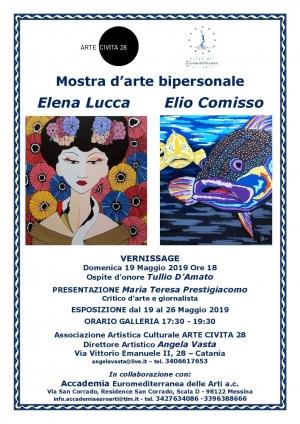 Mostra di due pittori d' eccellenza, ELIO COMISSO ED ELENA LUCCA.Presenta Maria Teresa Prestigiacomo