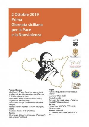 """Conferenza stampa 2 ottobre ore 10.00 su Convegno """"Marcia Mondiale della Nonviolenza e Ambasciate di Pace"""", presso bottega di Libera."""