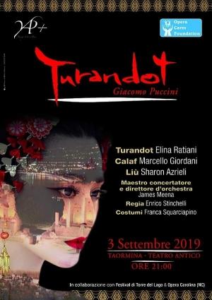 Turandot regia Stinchelli oggi 3 settembre al Teatro Antico da non perdere assolutamente