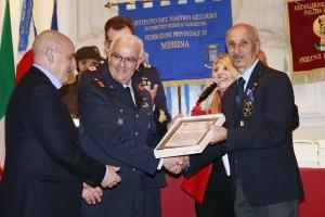 """Messina 6.12.2018 """"Premio Orione Speciale - Attestato di Benemerenza - conferito ai Componenti l' 11° REPARTO MANUTENZIONE VELIVOLI dell'Aeronautica Militare Italiana."""