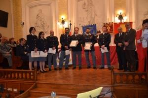 """Messina 6.12.2018 """"Premio Orione Speciale"""" Attestato di Benemerenza conferito ai componenti l' UFFICIO SCORTE - Questura di Messina"""