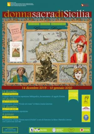 Evento Donna sacra di Sicilia - Biblioteca Regionale di Messina - Inaugurazione sabato 14 dicembre 2019, ore 17