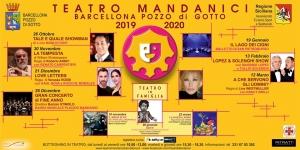 Barcellona Pozzo di Gotto: il cartellone 2019/2020 del Teatro Mandanici