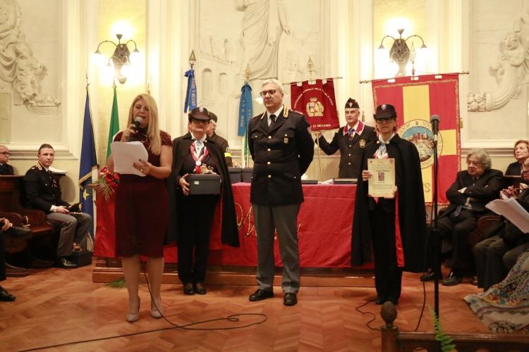 PREMIO ORIONE SPECIALE 2017 conferito alla Sezione Polizia Stradale di Messina,  comandata dal  Primo Dirigente  della P.di S.  dott.   Sergio Iannello