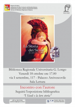 I Siculi e la loro storia - Biblioteca Regionale di Messina - 18/10/2019, ore 17