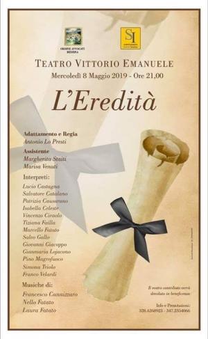 Messina:L' Avv. Patrizia Causarano e l 'Ordine degli Avvocati per la charity 8 maggio ore 21.00 teatro Vittorio.
