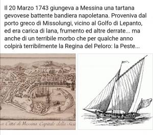 Il giornalista storico Marco Grassi  evoca l' infausto giorno del 20 marzo portatore  della peste a Messina