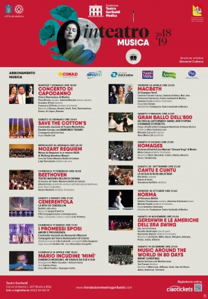 TEATRO GARIBALDI MODICA, stagioni MUSICA e PROSA 2018-2019 Direzione artistica GIOVANNI CULTRERA