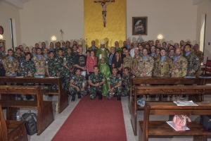 UNIFIL: Visita del Nunzio Apostolico della Santa Sede. Il Contingente Italiano in Libano impegnato nella missione UNIFIL riceve la visita di S.E. Rev.ma Mons. Joseph Spiteri