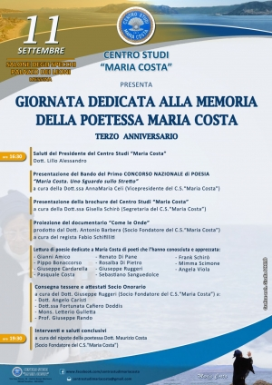 Giornata dedicata a Maria Costa