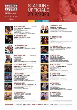 Aperta la campagna abbonamenti per il Teatro di  Belpasso con attori e cantanti  di chiara fama