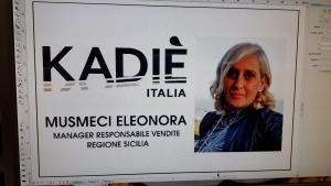 Eleonora Musmeci manager Kadie'  Premio qualità in  Belgio