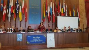 Cerimonia di premiazione al palazzo Zanca a Messina  con l'Accademia Euromediterranea delle arti con Maria Teresa Prestigiacomo.  Premi Speciali.