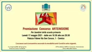 Arteinsieme di Comiso coinvolge anche le Scuole Premiazione lunedi 17 maggio a Comiso (Rg)