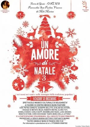 Messina - Torna Un amore di Natale(terza edizione)la grande Kermesse di Terra di Gesù Onlus. Il 21 dicembre alle 21 presso il Teatro Annibale.