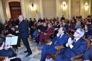 Premio Orione 2019 - I saluti  del Presidente dell'Associazione Culturale Messinaweb.eu a tutti i convenuti.