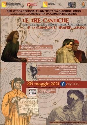 La Biblioteca Regionale Universitaria di Messina continua le fervide attività cultural-sociali Dante-Cannizzaro protagonisti dell'evento il 28 maggio