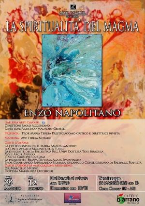 Mostra evento a Messina di Enzo Napolitano Critico d arte la prof.ssa Maria T.Prestigiacomo