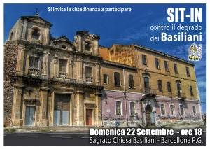 Barcellona Pozzo di Gotto: un sit-in contro il degrado del complesso monumentale dei Basiliani