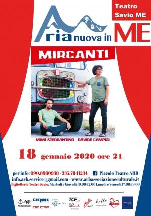 Messina la tappa del tour nazionale di MIRCANTI  sabato 18 gennaio ore 21