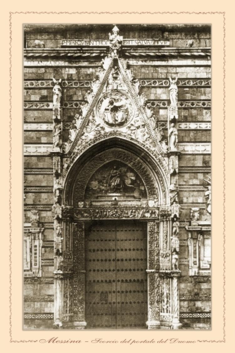 Messina - scorcio del portale del Duomo