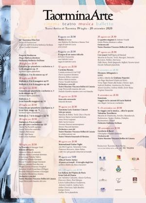 Comunicato Fondazione Taormina Arte Sicilia