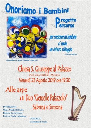 Chiesa San Giuseppe al Palazzo 23 agosto ore 19.30 Un programma da non perdere