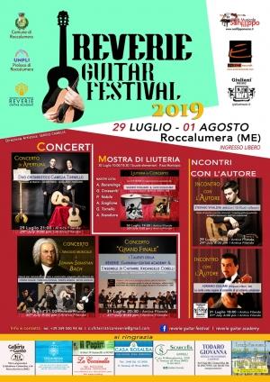Prima Edizione del Reverie Guitar Festival. A ROCCALUMERA - ME.   Con la Direzione Artistica del M° Sergio Camelia