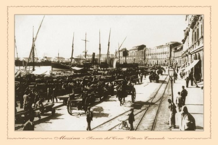Messina - scorcio del Corso Vittorio Emanuele