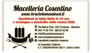 Premio Orione 2019 - Ringraziamento Macelleria Cosentino
