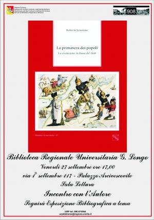 Il tema del Risorgimento trattato  Venerdì 27 settembre nella Sala Lettura della Biblioteca Regionale di Messina