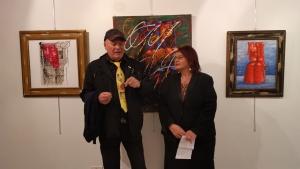 Mostra d'arte Personale del maestro Xante Battaglia presentata da Maria Teresa Prestigiacomo curatrice Marò D' Agostino Galleria Arké, Locri.