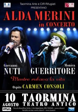 Carmen Consoli 10 agosto a Taormina Cameo da una poesia di Alda Merini. Concerto per la charity